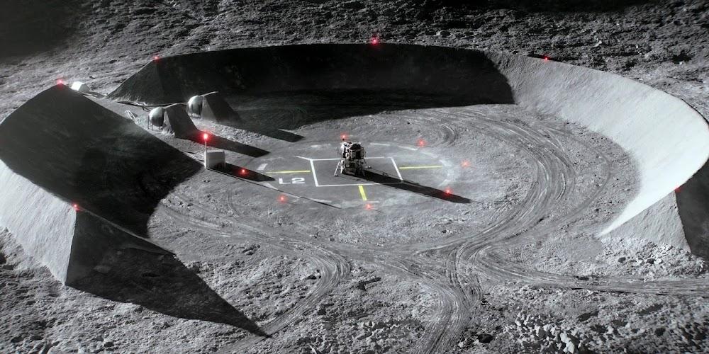 Jamestown US Moon base landing pad in season 2 of 'For All Mankind'