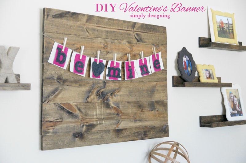 Be Mine Banner | #banner #diy #crafts #valentinesday #burlap