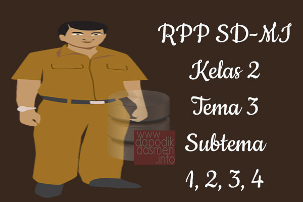 RPP Tematik SD/MI Kelas 2 Tema 3 Subtema 1 2 3 4 Semester 1, Download RPP Kelas 2 Tema 3 Subtema 1 2 3 4 Kurikulum 2013 SD/MI Revisi Terbaru, RPP Silabus Tematik Kelas 2
