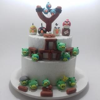 Decoração de Bolo Angry Birds