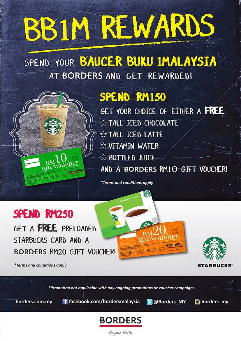 Borders Malaysia BB1M Promotion 1Malaysia Book Vouchers