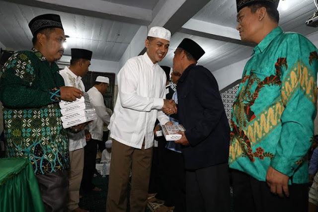 Wagubsu Musa Rajeckshah ketika menghadiri acara silaturahmi dengan warga Muhammadiyah di Masjid Taqwa Muhammadiyah.