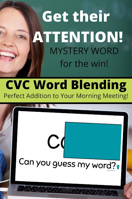 CVC Word Blending Activity for Kindergarten and Grade One