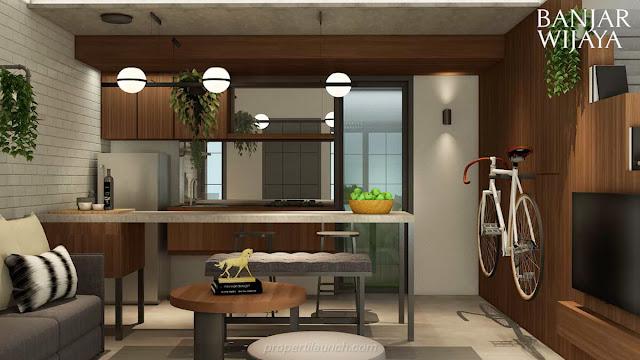 Living Room Design Rumah Infini Hauz Banjar Wijaya