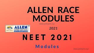 Allen race Modules pdf for neet 2021