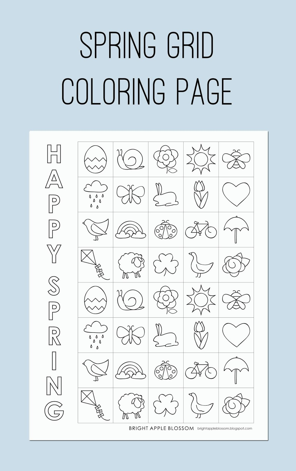 kids coloring, adhd, short attention span, springtime, easter, printable