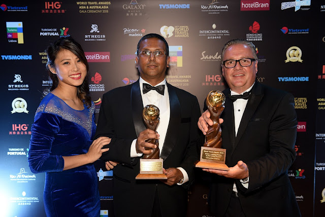 SriLankan Airlines bags two prestigious titles at the World Travel Awards 2018 Asia and Australasia Ceremony