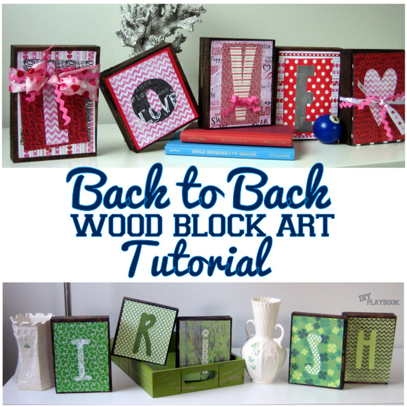 Back to Back Wood Art Tutorial