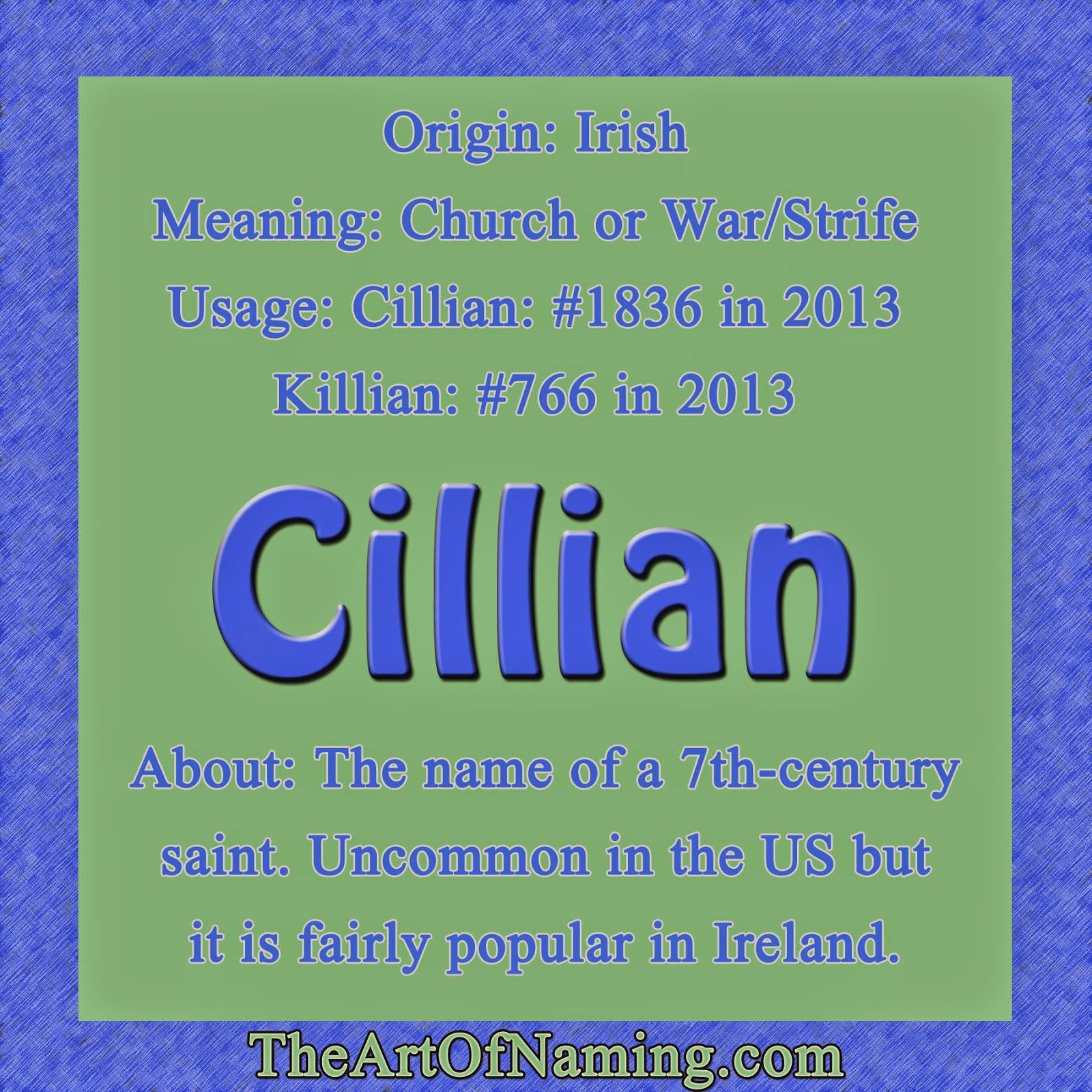 Killian name popularity