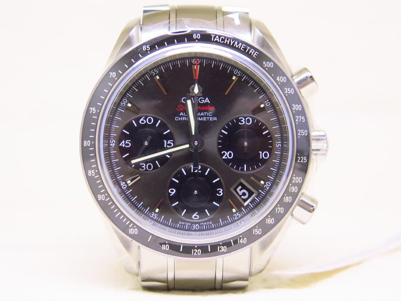 OMEGA SPEEDMASTER CHRONOGRAPH CHRONOMETER GREY RHODIUM DIAL - AUTOMATIC