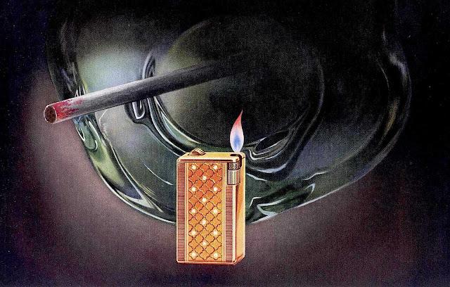 lipstick on cigarette 1952 illustration