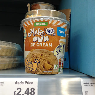 asda make your own ice cream caramel delight