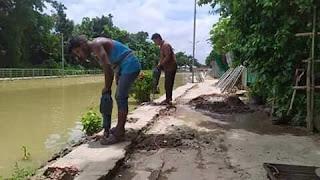 মোহনগঞ্জে চোরাই বিদ্যুতে শিয়ালজানি খালের উন্নয়ন কাজ