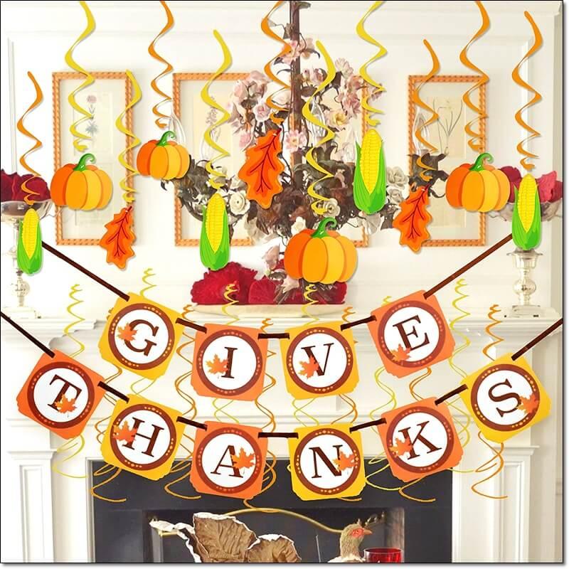 Tanksgiving, Party, Decoration,