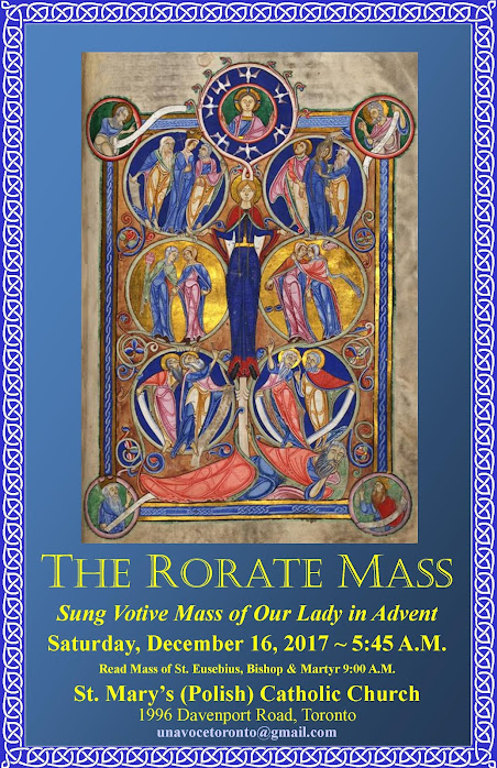 """RORATE"" Traditional Latin Mass in the Archdiocese of Toronto"