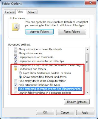 Menampilkan File/Folder Hidden di Windows 7, 8, dan 10