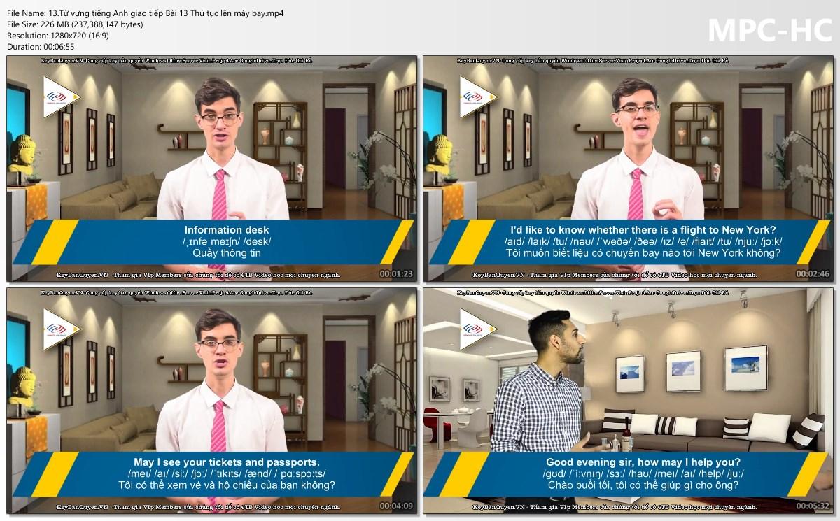 Video Khóa học chuyên đề Từ vựng tiếng Anh giao tiếp.