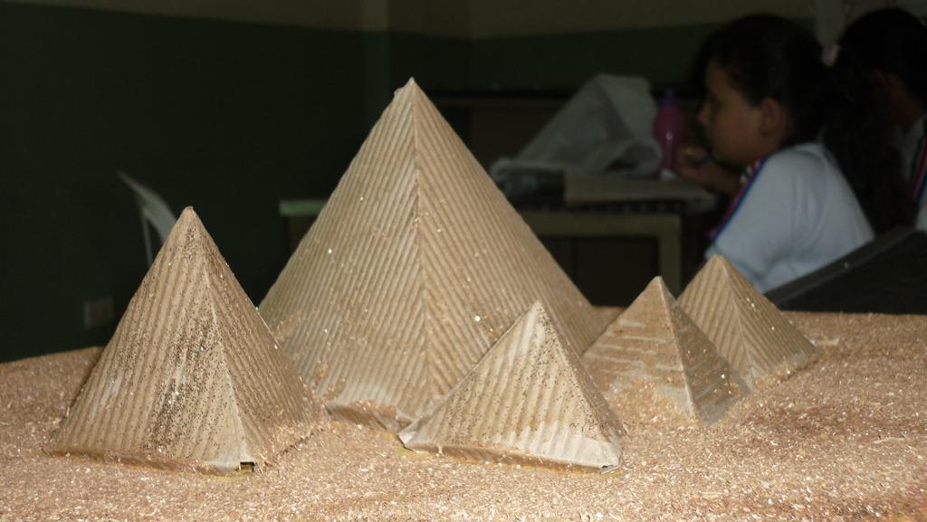 como hacer maqueta piramides de giza maquetmania 15 01