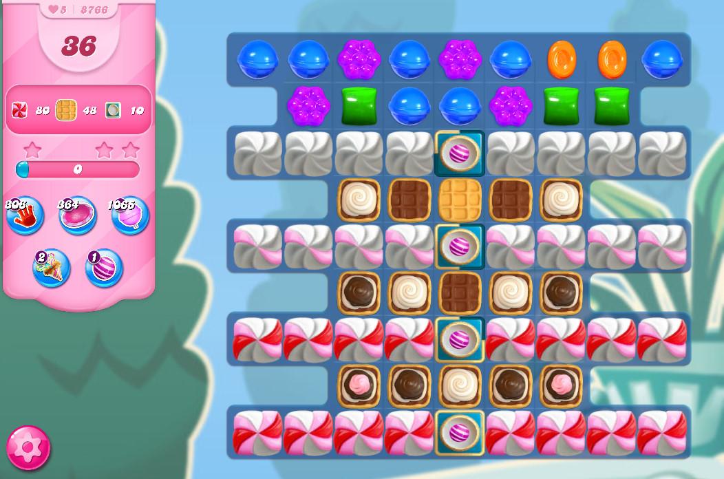 Candy Crush Saga level 8766