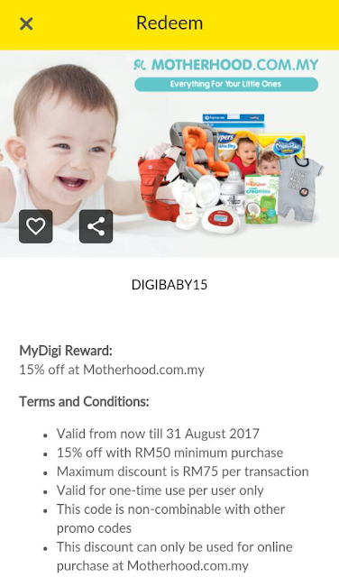 Digi Deal Motherhood Voucher Code Malaysia Discount Promo