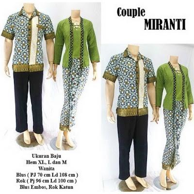 Batik Pasangan Couple Sarimbit Miranti Hijau