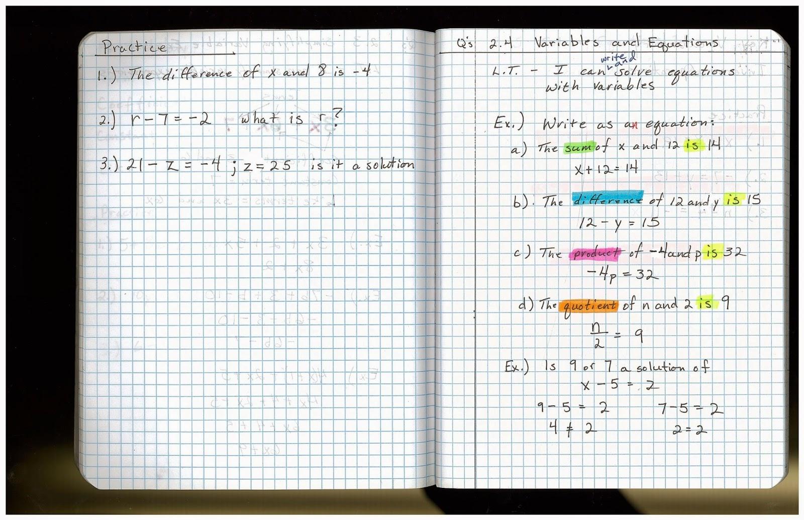 Heidemann 8th Grade Math 7th Period Pre Algebra 10 20