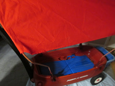 canopy top for grandkids wagon madeover-Vickie's Kitchen and Garden