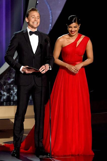 Tom Hiddleston,Priyanka Chopra at Emmy awards 2016