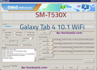 سوفت وير هاتف Galaxy Tab 4 10.1 WiFi موديل SM-T530X روم الاصلاح 4 ملفات تحميل مباشر