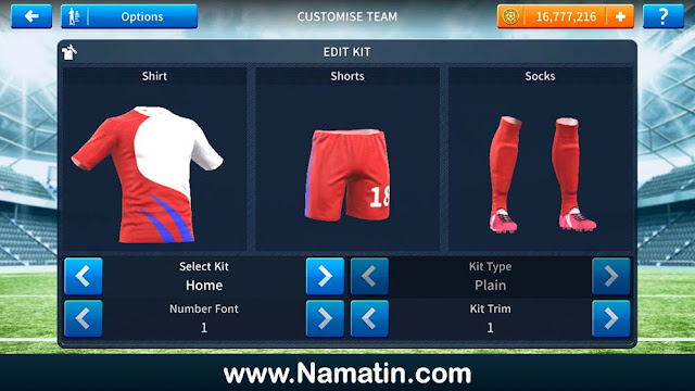 Baju Dream League Soccer Futsal Indonesia