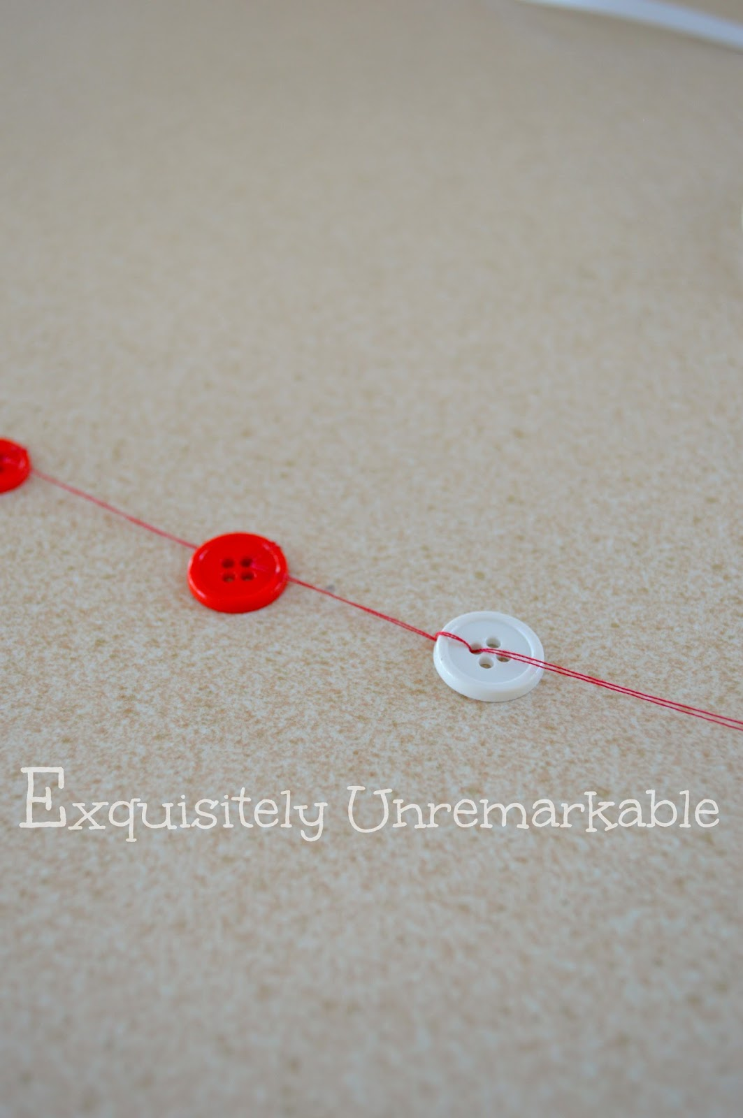 Buttons On A String For Garland