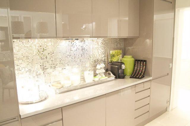 Construindo Minha Casa Clean Decoração da Leitora Sala  ~ Revestimento Para Quarto Leroy Merlin