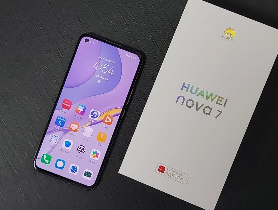 Huawei Nova 7 Front