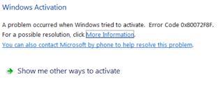 Cara Mengatasi Gagal Aktivasi Windows Dengan Kode Error 0x80072F8F