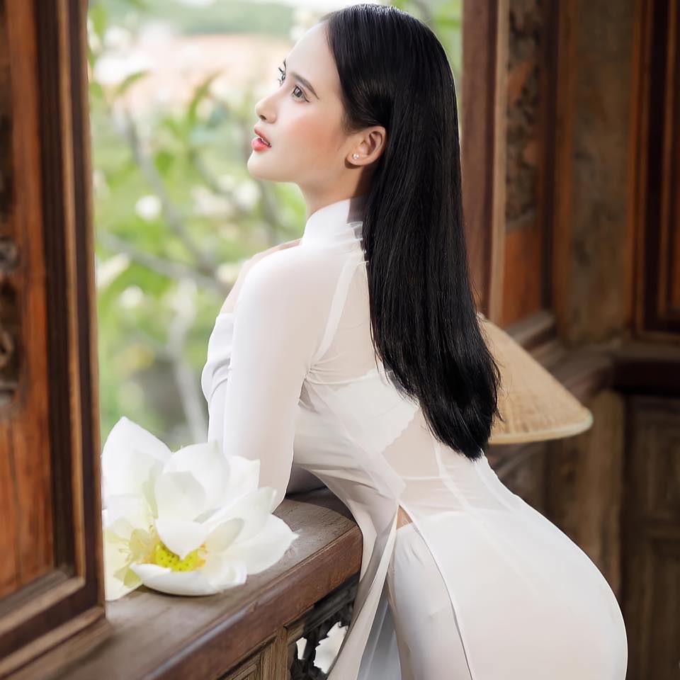 Tuyển tập girl xinh gái đẹp Việt Nam mặc áo dài đẹp mê hồn #57 - 9
