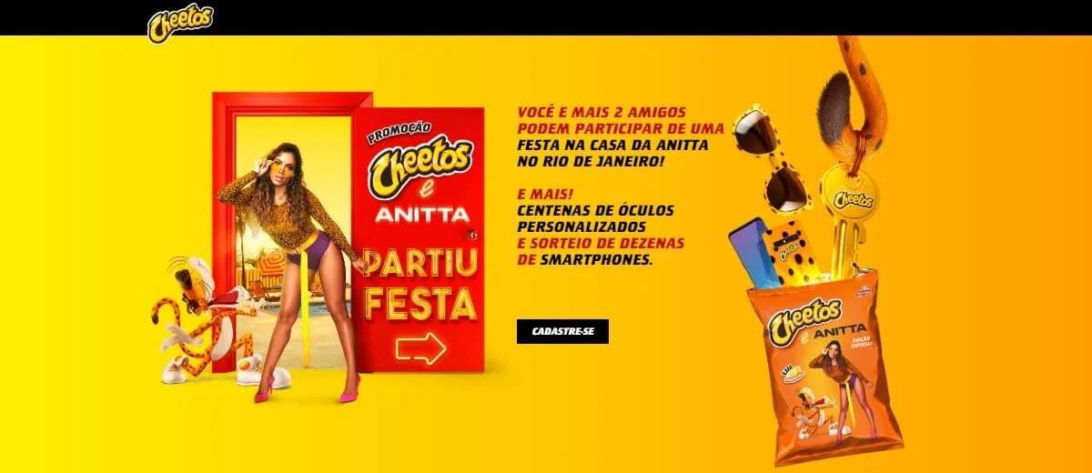 Promoção Cheetos e Anitta 2020 [Muitos Prêmios]
