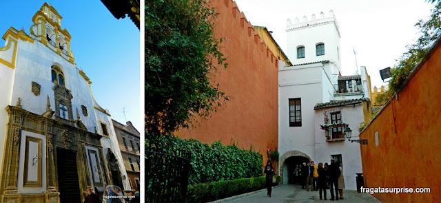 Sevilha, Andaluzia: Igreja de Santa Cruz e a Judería
