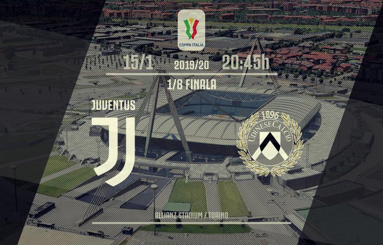 Coppa Italia 2019/20/ 1/8 finala / Juve - Udinese, srijeda, 20:45h