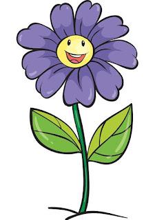 Gambar Setangkai bunga kartun