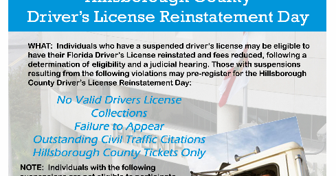 Tampa Criminal Law Blog: Driver's License Reinstatement Day