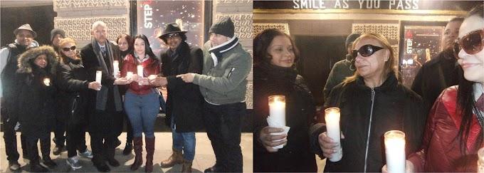 ACROARTE y seguidores realizan vigilia en memoria de Anthony Ríos frente a United Palace