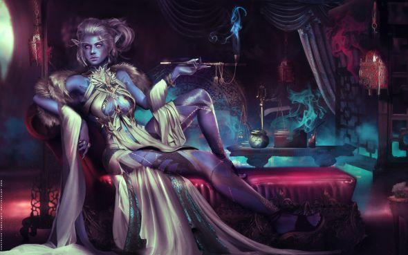 Eddy Shinjuku artstation deviantart arte ilustrações mulheres fantasia games