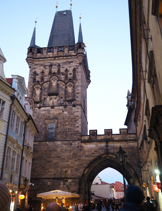 Walking over Charles Bridge