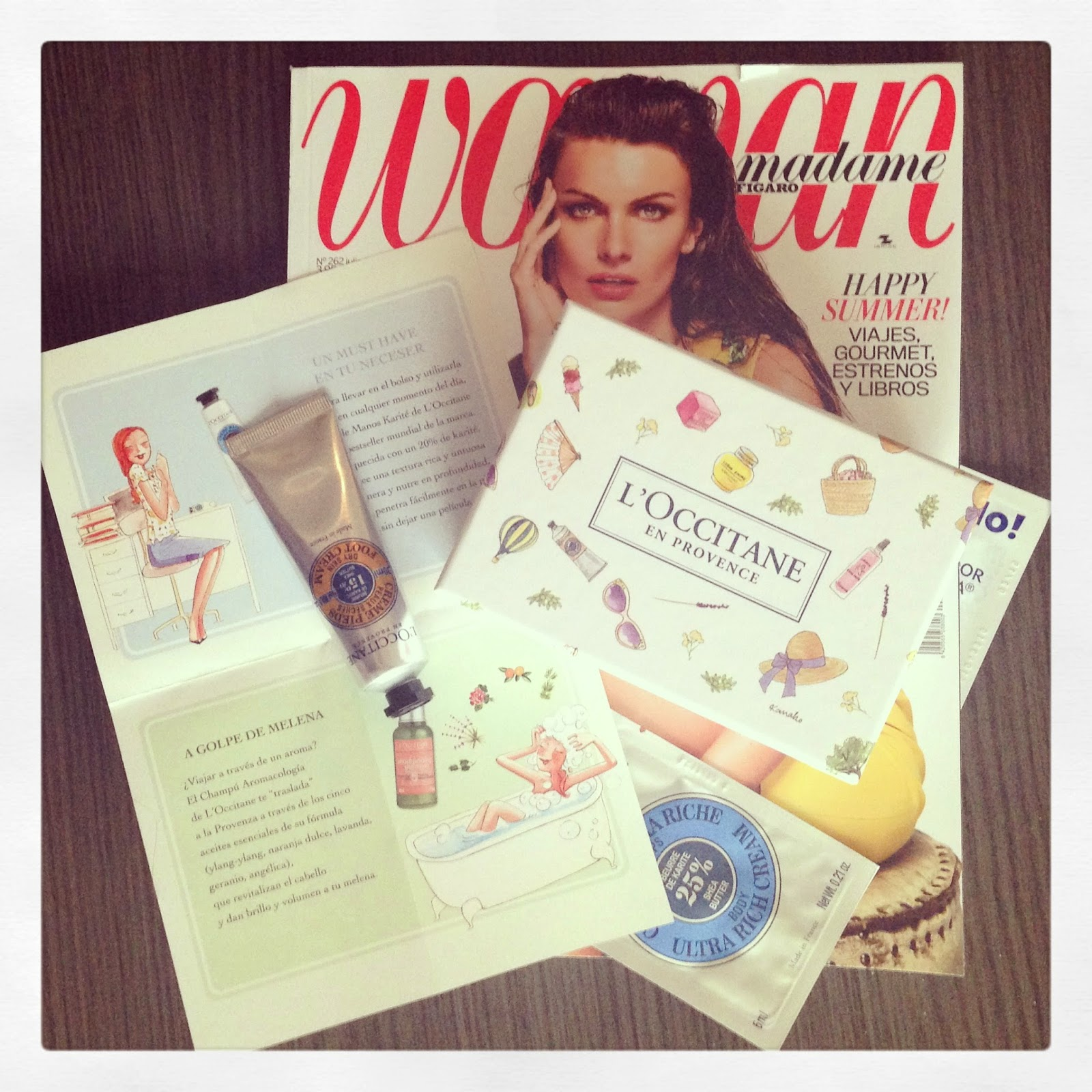 Mini Box de Woman y L'Occitane... irresistible.
