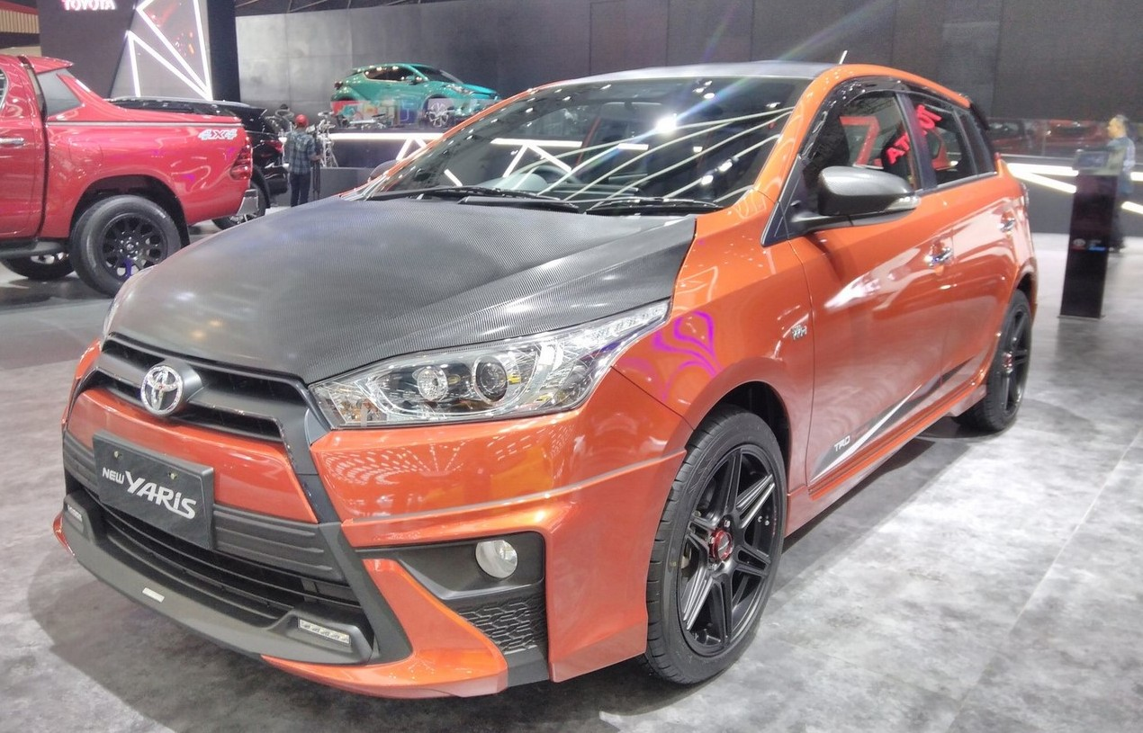 all new yaris trd sportivo 2017 toyota camry pantip hilux ms blog has modified the with special styling for giias hood and orvms have a carbon fibre look to them