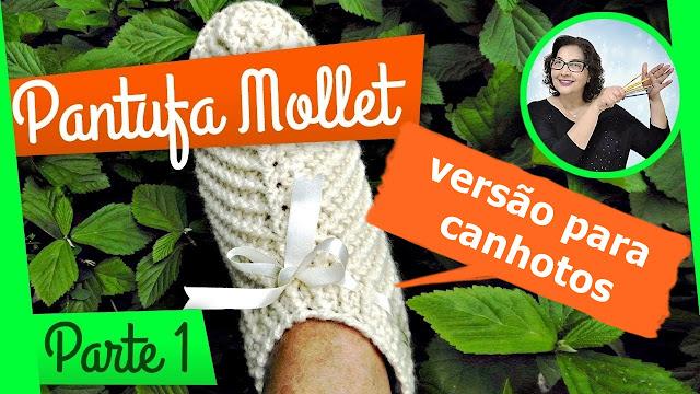 Edinir Croche ensina Pantufa de Crochê para Canhotos - passo a passo do jeito certo edinir croche no cursodecroche