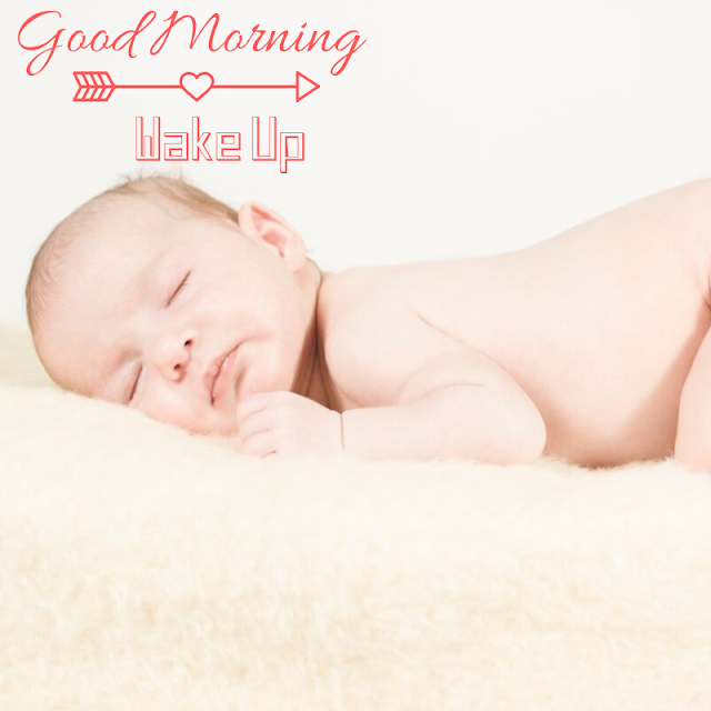 Happy Good Morning Images with Sleeping baby