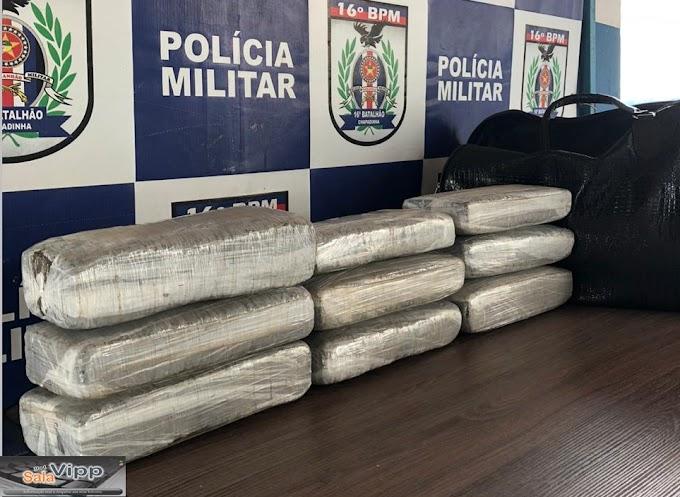 Em Chapadinha, mulher é presa transportando 10 quilos de Maconha
