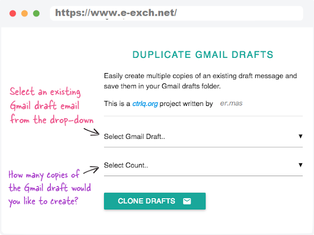 Copy Draft Emails in Gmail accounts.