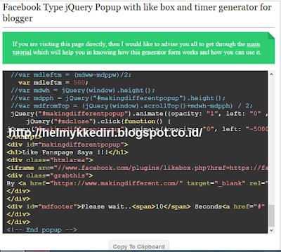 Membuat Like Box FansPage dengan Timer diBlog